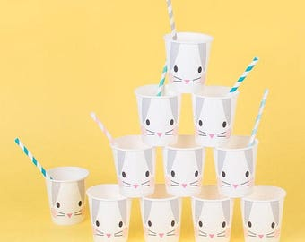 Clearance Bunny Rabbit Paper Cups pk 8