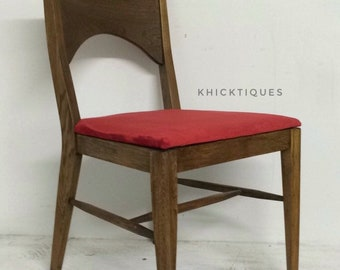MCM Chair, Desk Seat, Accent Piece Of Furniture, Red Velvet, English  Chestnut, Wooden Vintage, Retro Home, Free Shipping, Mid Centry Modern