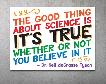 Science is True Quote PRINTABLE Protest Poster | Climate March, Climate Change, Trump Protest Sign