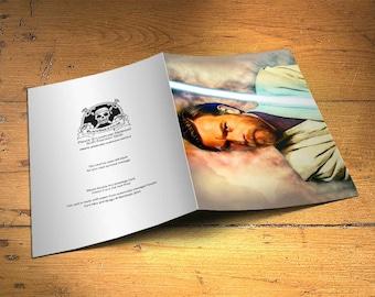 Star Wars Obi Wan Kenobi Greetings Card - Wall Decor, Inspirational Print, Home Decor, Eco Friendly, Gift, 5x7 inches Art Print