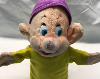 Vintage Dopey Hand Puppet - Snow White and the Seven Dwarfs
