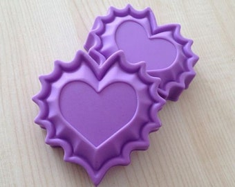 2pcs Big Heart Flexible Silicone Mold For Handmade Soap Cake Mold Soap Mould Candle Candy Chocolate Cake DIY Fimo Resin Crafts