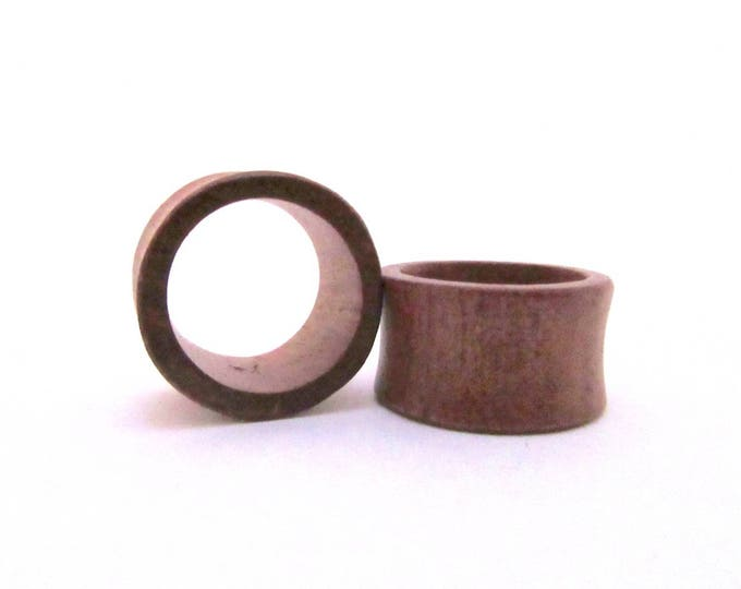"""Brown Wood Tunnels. 7/8"""" / 22mm, 1"""" / 25mm"""