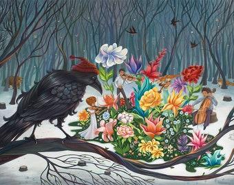 """Spring Quartet - giclée print, 13"""" x 19"""" (33cm x 48cm)"""