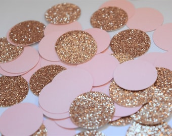 Blush and Rose Gold Confetti, Blush and Rose Decorations, Engagement Party Decorations, Bridal Shower Decorations, Rose Gold Decorations