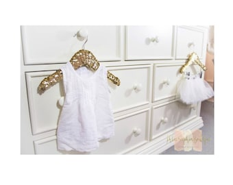 Sequin Hanger || Child's Size Hangers || Without Clips || Display Hangers || Nursery Decor || Baby Girl Decor|| Gold Decor ||