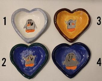 Penguin Tea bag holder -Ceramic-