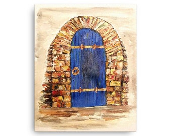 Blue Door Canvas