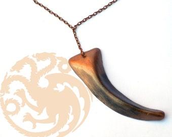 Daenerys Targaryen Single Dragon Claw Necklace,Khaleesi cosplay necklace