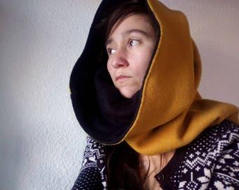 Snood hooded wool / fleece