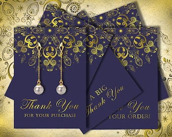 Customer Thank You card - Thank You card - jewelry holders - digital collage sheet - printable download - digital download - set of 8