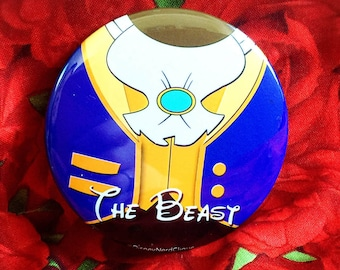 """The Beast 3"""" Beauty & the Beast inspired button"""