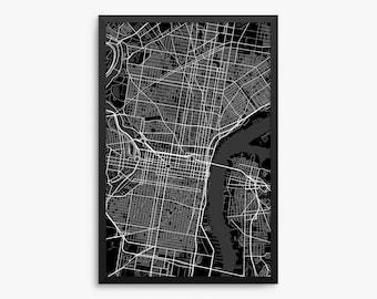 Philadelphia City Street Map, Philadelphia Pennsylvania USA, Modern Art Print, Philadelphia Gift Idea, Philadelphia Decor, Philadelphia Map