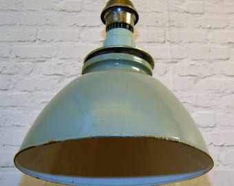 1940s Benjamin industrial pendant lamps light enamel antique vintage pendant metal factory old restaurant cafe