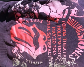 ROLLING STONES 2015  ; girls hoodie; private show at  henry fonda theatre   hollywood california