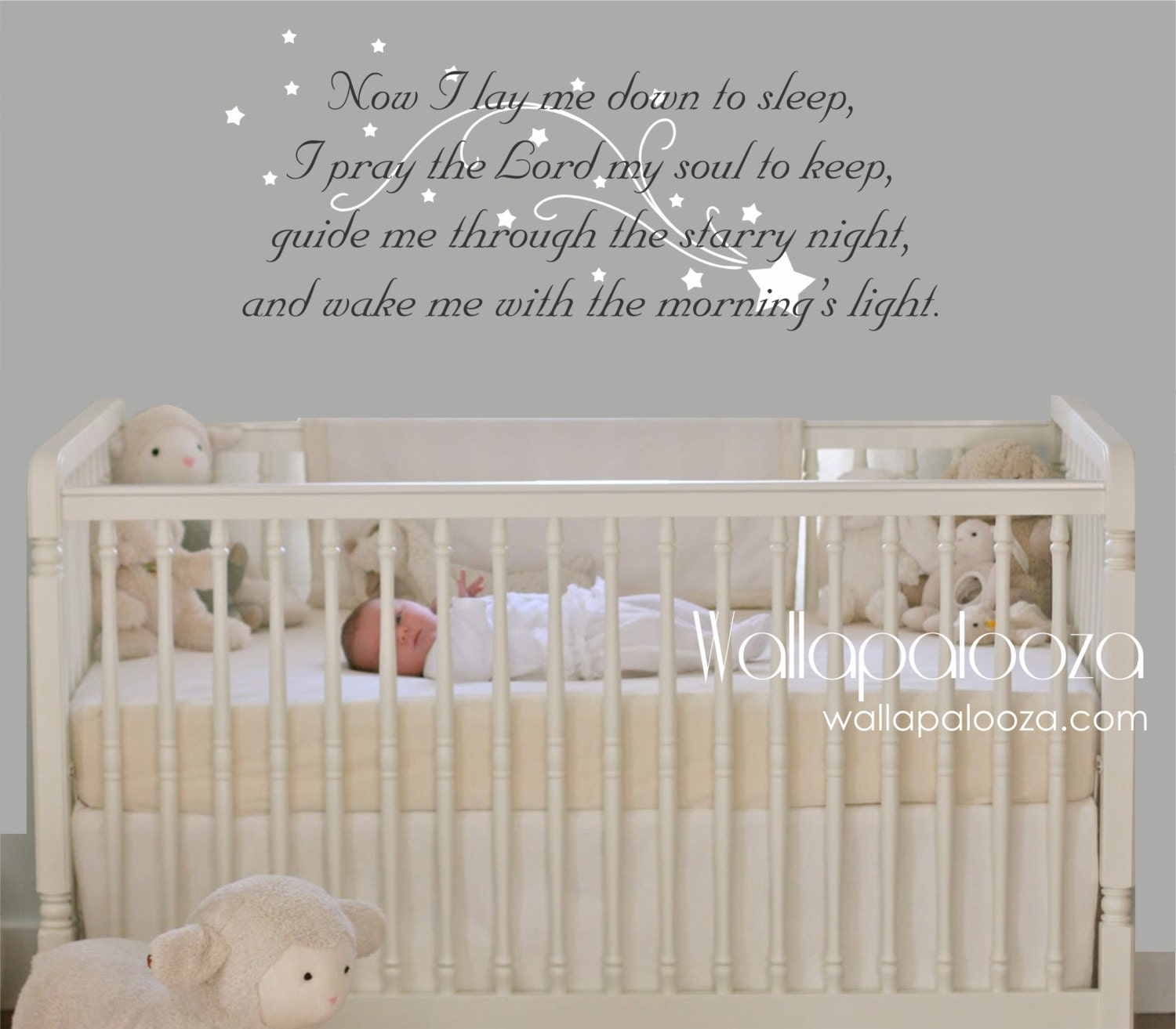 Now I lay me down to sleep wall decal prayer wall decal