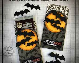KIT Something Wicked Candy bar Wraps, Halloween Candy Bar Wrapper, Party favor, Teacher Appreciation, Game Prize, Classroom Treat, Kid Treat