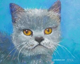 Cat painting, animal painting, cat art, nursery painting, kids room painting, burmese cat painting, cat artwork, kitten art,Etsy Art, Matson
