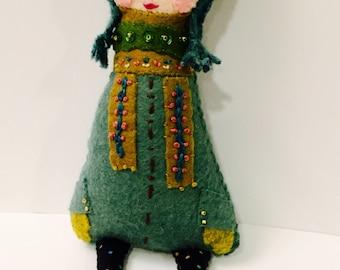 Eule Mädchen Plushie. Softie. Woodland-Owl. Fühlte mich Doll.