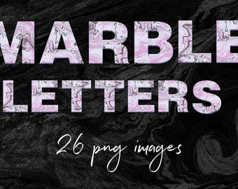 Modern Marble Alphabet Clipart, Liquid Marble Letters, Modern Font, Suminagashi Alphabet, Uppercase PNG Letters, BUY3FOR6