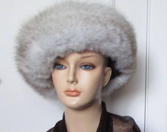 Arctic fox fur hat size Large