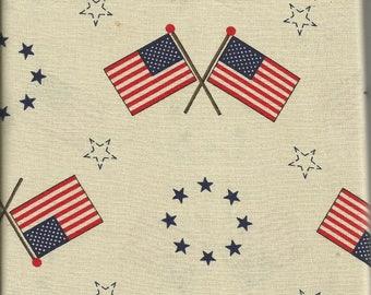 "Vintage Fabric Traditions Americana Fabric 34"""