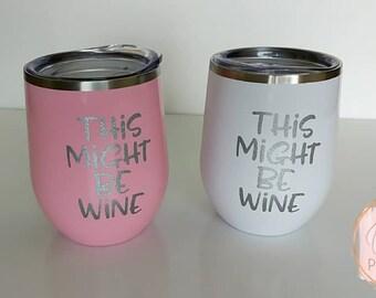 Wine tumbler - stainless steel wine tumbler - stainless steel stemless tumbler - stemless tumbler - stemless wine tumbler -