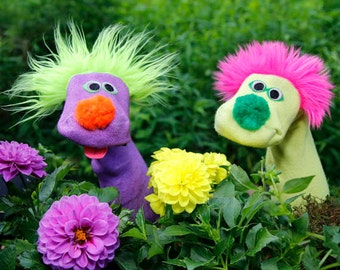 Sockett®Classical Sock Puppets 2 for 30. You Pick Colors