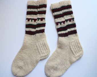 Hand knit wool socks Warm wool socks