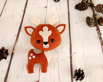 Deer Stuffed Animals Toy Birthday Gift For Baby Animals Woodland Party Decorations Nursery Decor Baby Shower Favours Christmas Reindeer