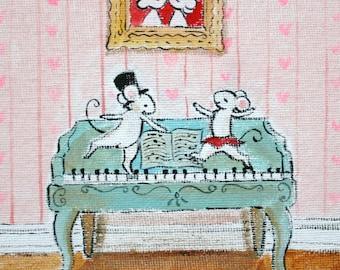 Valentine print, Love Song - PRINT, heart print, music print
