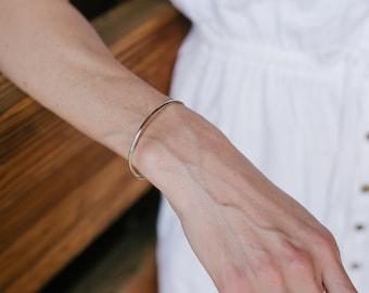Silver Cuff Bracelet - Silver Bracelets for Women - Dainty Bracelet - Open Bangle Bracelet - Stacking Bracelets - Simple Silver Bracelet