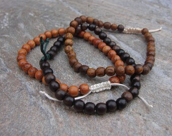 wood bead bracelet set bayong tiger ebony robles
