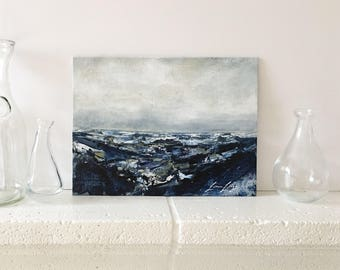 "Original Acrylic Abstract Seascape Painting ""Inkwell"""