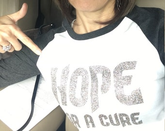 T-shirt, Diabetes, Awareness, Hope, Glitter, Hope for a Cure, Bling
