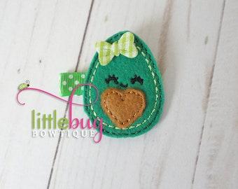 Avocado Hair Clip, Avocado Hair Bow, Cute Avocado, Baby Girl Avocado Hair, Toddler Avocado, Avocado Feltie, Avocado Planner, Avocado Heart