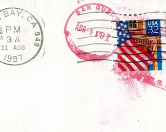 Envelope  : San Quentin Post Mark