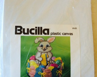 Easter Bunny and Egg Candy Dish Plastic Canvas Kit by Bucilla Corporation