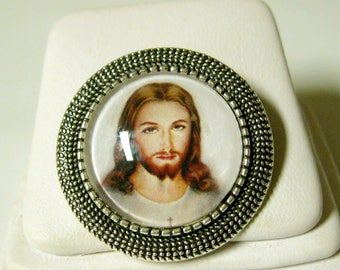 Sacred heart of Christ pin/brooch - BR09-050
