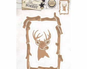 This frame 2 wood and reindeer STENCILFF18