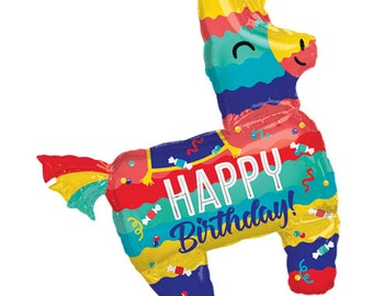 "Piñata Party Balloon, 33"", Happy Birthday Pinata Balloon, Fiesta Decorations, Fiesta Party, Party Supplies, Fiesta, Cinco de Mayo party"