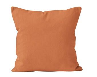 Copper Pillow Cover, Boho Copper Decor, Burnt Orange Pillow Cover, Rust Throw Pillow Cover, 18x18  Bronze Cushion Cover Pillow Cover _M