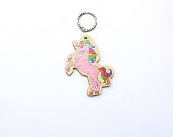 Key fob, wooden unicorn, 7 cm, for children, great souvenir, give away,