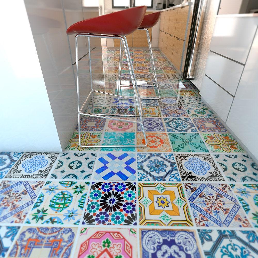 Spanish tiles flooring floor tiles floor vinyl tile zoom dailygadgetfo Gallery