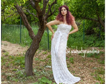 S-XL, Boudoir SHEER Lace Dress, See Through Pregnancy Props, Maternity Styled, Maternity Long Gown, White Scallop Lace, Photography Dress