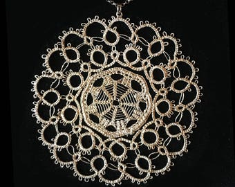 Sunflower Silver Lace Medal