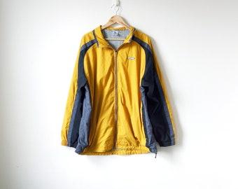 90s Reebok Windbreaker - Yellow 90s Windbreaker Vintage Windbreaker 90s Clothing - 90s Jacket Yellow Jacket Reebok Jacket - Men's XL