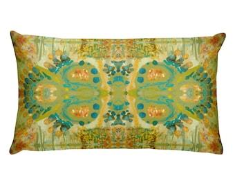 Rectangular Lumbar Throw Pillow Cushion Cover Original Design by Karen Storay