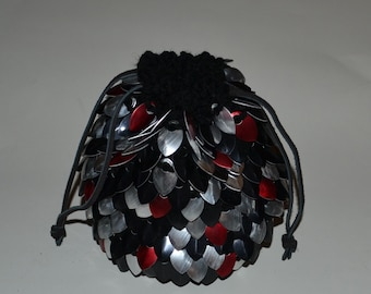 Reserved for C.  Scalemail Dice Bag of Holding Knitted Dragonhide