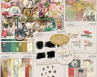 Free Gift, Best Value, Wonderland, Digital Scrapbooking, Scrapbook Paper, Clip Art, Mad Hatter Tea Party, Gold Foil Pattern, Gold Texture
